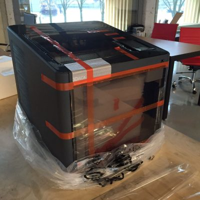 3D printer after opening the box