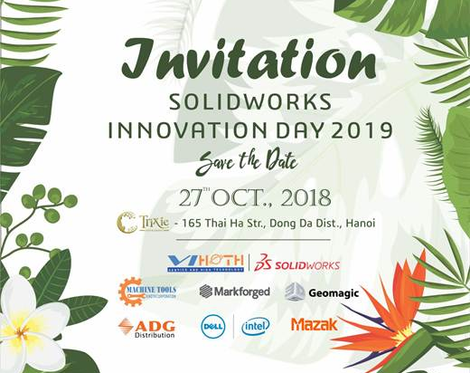 SOLIDWORKS INNOVATION DAY 2019 Invitation
